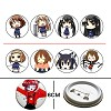 k-on pins(8pcs a set)