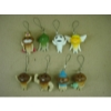 mushroom figures phone straps(8pcs a set)