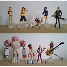 One piece figures(9pcs a set)