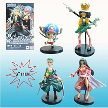 One piece figures(4pcs a set)