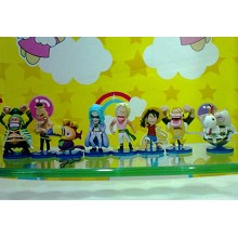 One piece figures(8pcs a set)