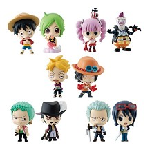 One piece figures(10pcs a set)