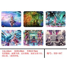 The anime mouse pads(6pcs a set)BSD067