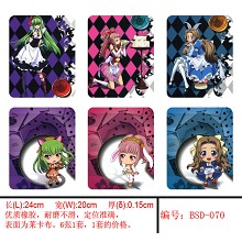 Code Geass mouse pads(6pcs a set)BSD070