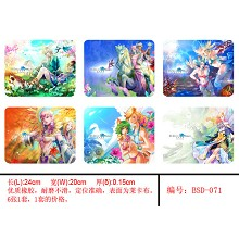 Perfect world mouse pads(6pcs a set)BSD071