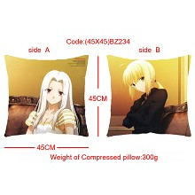 Fate stay night double sides pillow BZ234