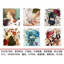 Natsume Yuujinchou Glass cleaning cloth(6pcs a set)YJT032