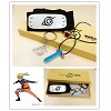 Naruto headband+ring+necklace+keychain a set
