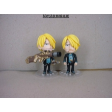 One piece sanji figure dolls(2pcs a set)