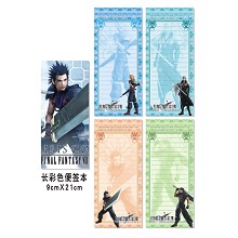 Final Fantasy notepads/notebooks(4pcs)