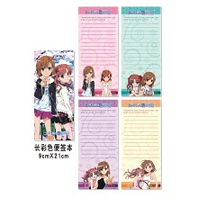 Toaru Kagaku no Rail notepads/notebooks(4pcs)