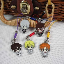 Vampire Knight phone straps set