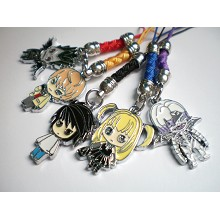 Death note phone straps
