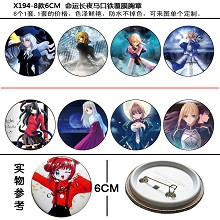Fate stay night pins(8pcs a set)X194