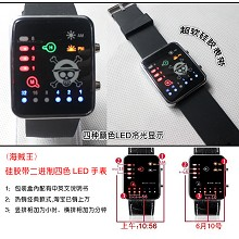 One piece binary LED watch