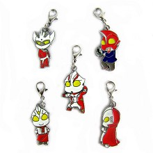 Ultraman key chains set