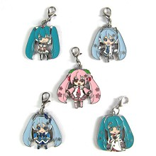 Hatsune Miku key chains set