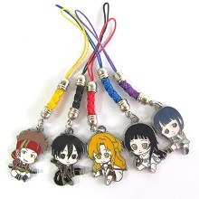 Sword Art Online phone straps set