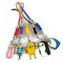 Adventure time phone straps set