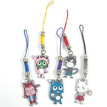 Fariy tail phone straps set