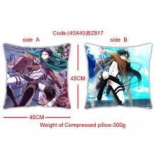 Attack on Titan double side pillow(45X45)BZ817
