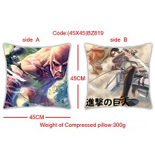 Attack on Titan double side pillow(45X45)BZ819