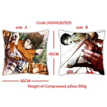 Attack on Titan double side pillow(45X45)BZ820