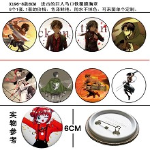 Attack on Titan pins(8pcs a set)X196