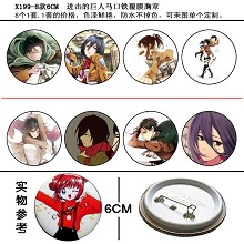 Attack on Titan pins(8pcs a set)X199