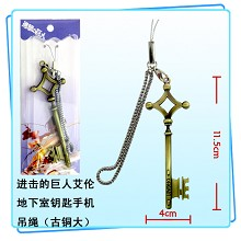 Attack on Titan the key phone strap