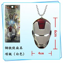 Iron Man mask necklace