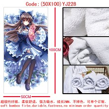 The lovely anime girl bath towel(50X100)YJ228