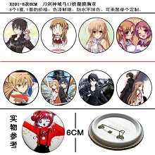 Sword Art Online pins(8pcs a set)X201