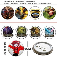 League of Legends pins(8pcs a set)X202