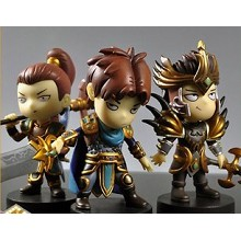 League of Legends anime figures(3pcs a set)