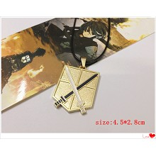 Attack on Titan necklace(gold)