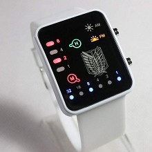 Attack on Titan Binary electronic LED watch