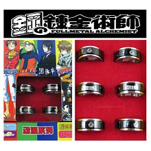 Full metal Alchemist rings(6pcs a set)