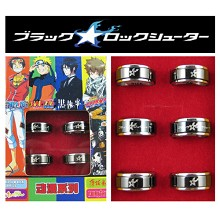 Black rock shooter rings(6pcs a set)