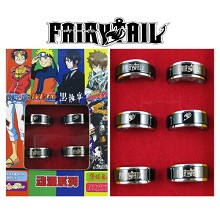 Fairy tail rings(6pcs a set)