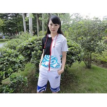 Gintama hoodie + white Middle pants