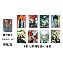 Bleach poster(8pcs a set)+3D card 21*28.8CM