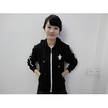 Black rock shooter anime hoodie