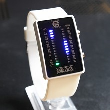 One Piece white LED watch