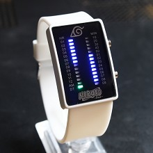 Naruto white LED watch