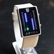 Attack on Titan white LED watch
