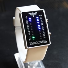League of Legends white LED watch
