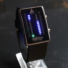 Hatsune Miku black LED watch