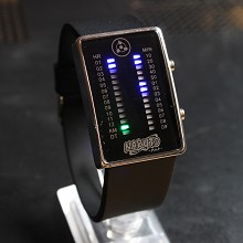 Naruto black LED watch