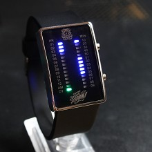 Reborn black LED watch